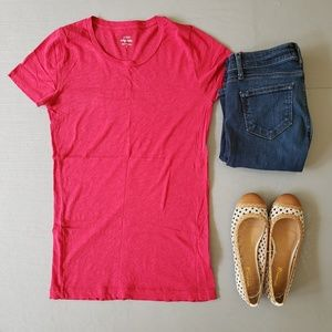 J. Crew Red Vintage Cotton Tee